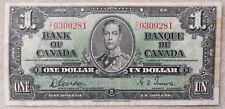 ***CANADA 1 DOLLAR 1937 Banknote Bill Paper Money Currency***