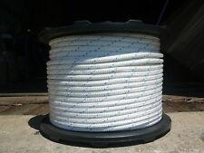 """1/2"""" x 100 ft Double Braid Dacron Horse Lead Line White/Blue  Super Strong, Soft"""