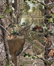 """34"""" Fabric Panel - Print Concepts Realtree 10149 Deer & Turkey Wallhanging"""