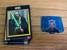 Star Wars Episode 1: two full sets: KFC trade cards + Pepsi / Walkers stickers