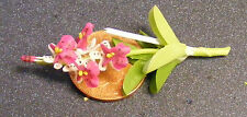 1:12 Scale Pink  Orchid Dolls House Miniature Flower Garden Accessory 49s