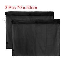 2 Pcs 70 x 53cm Car Side Window SunShade Polyester Mesh Curtain UV Protection