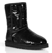 UGG Australia Classic Short Sequins Boots 1094982 Women's US 6 Black NEW $190