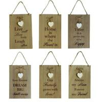 Wooden Home Signs Wall Decor Mum Mother Family Love Dream Country Sign Gift