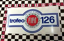 Fiat 126 Trofeo Pegatina