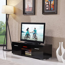 TV Stand Black Entertainment Media Console Furniture High Gloss Unit Cabinet TV
