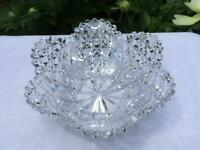 """ABP BRILLIANT CUT CRYSTAL 9 1/2"""" BOWL, HOBSTARS, CANES AND MORE 1895-1910"""