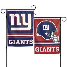 """NEW YORK GIANTS DOUBLE SIDED GARDEN FLAG 12""""X18"""" YARD BANNER OUTDOOR RATED"""