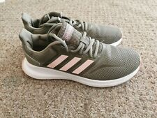 Khaki and pink women's Adidas trainers UK size 6 worn once brilliant condition