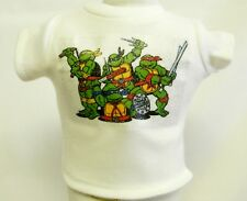 "Teenage Mutant Ninja Turtle Silver Glitter Transfer T-Shirt For 16""-18"" Dolls"