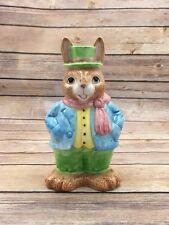 Vintage Lefton Mr. Bunny Bank Ceramic Rabbit Bank 1990 Sri Lanka #7535