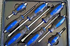 8 x Kraft Schraubendreher CrV SL PH Satz Schraubenzieher Durchgehende Klinge