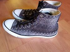 CONVERSE BLACK /GREY ALL STAR HIGH TOP TOPS KNIT SNEAKERS  MENS 9 W 11
