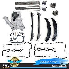 GENUINE Timing Chain Kit Water Pump Valve Cover Gasket for Hyundai Kia 3.3L 3.8L