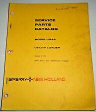 New Holland L-225 Skid Steer Utility Loader Parts Catalog Manual Book Original!