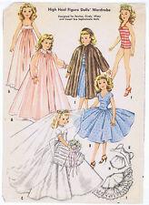 """2162 Slender Bride Doll Pattern - Size 12"""" - Vintage Year 1957"""