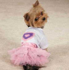 Zack & Zoey Chiffon Hearts Tee & Skirt Set Dress t-shirt top tulle ruffle skirt