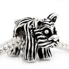 Charm Bead Dog pet Large hole. Fits European style Bracelet or necklace C110