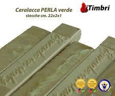 Ceralacca  Metalizzata 5 stecche  cm. 23x2x1 Extra fine colore Perla verde