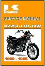 KAWASAKI Workshop Manual KZ250 LTD CSR 250 Singles 1980 1981 1982 1983 1984 1985