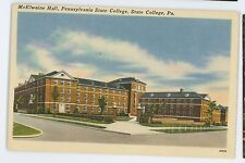 McElwaine Hall PENN STATE UNIVERSITY State College PA Centre Cancel Postcard