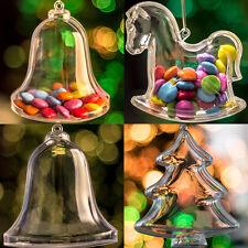 x 60 pièce Transparent Boules Décorations Arbre de Noël Arbre cheval à bascule