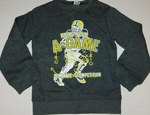 Boys Sweatshirt Size 4 5 Dark Gray Football Sports Shirt