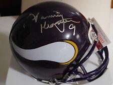 Tommy Kramer signed T B Vikings mini helmet, JSA , W574852, #9