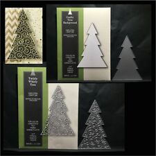 BUNDLE Christmas metal die set Twirly Whirly Tree & Crafty Tree Background dies