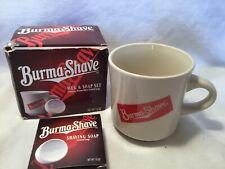 Vintage Burma Shave Shaving Mug With Soap Gift Set
