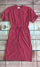 Leslie Fay Womens Petite 4 Pink Short Sleeve Dress