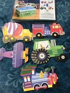 Olive Kid Trains Planes Trucks Tractors 25 Kids Wallies Wallpaper cutouts!12935