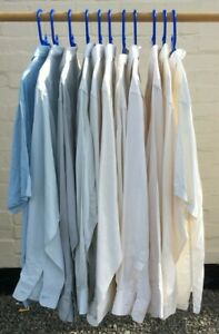 Bundle 11 Gents SILK SHIRTS Size 16.5 17 Cream Blue Patra LUAU Art of Silk Tori