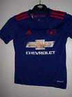 manchester united chevrolet away football shirt size age 9-10  good cond