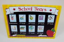 School Years Photo Frame w/Easel ~ Holds 9 Elementary (K - 8th Grade) Photos