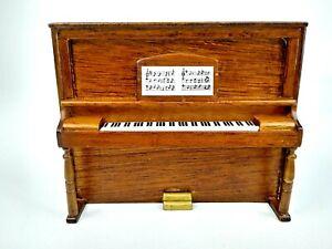 Vintage Miniatures Dollhouse Wood Mahogany Upright Piano 1:12 Music NO BENCH