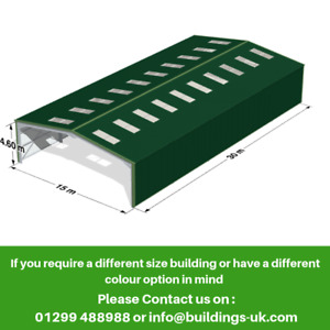 Agricultural Steel Frame Kit Building 100ft x 50ft x 16ft