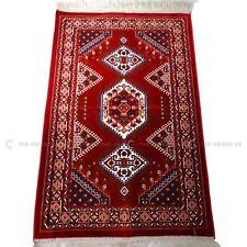 Madina Red Pray Mat High Quality Rug Muslim Prayer No Mihrab 110 X 70 Cm