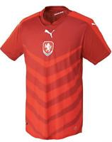 Puma Tschechien Fussball Trikot Nationalmannschaft Shirt Nedved Plasil Rot