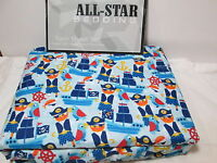 New P & A Marketing All-Star Kids Bedding PIRATES Twin Sheet Set - Blue  NIP