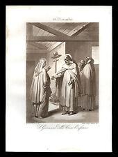 santino incisione acquatinta 1800 S.GIOVANNI DELLA CROCE