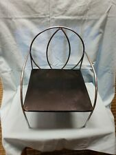 Vintage Salterini? MCM Child's Atomic / Radar Chrome Frame & Metal Seat Chair
