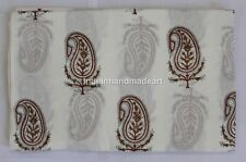 10 Yard Indian Hand Block Print Cotton Voile Fabric Sewing Material Fabric 64