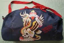 4a6fda829e45 Rare Vintage ED HARDY Don Designs New York City Heart Skull Duffle Bag 90s  Retro