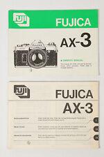Fujica AX-3 Bedienungsanleitung Handbuch User Manual Deutsch Englisch
