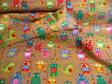 Babycord, Braun, Monster, Baumwolle, Kinderstoff, Meterware