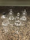 4+Vintage+Home+Interiors+Etched+Votive+Cup%2FCandle+Holders+3+With+Bows+1+Church