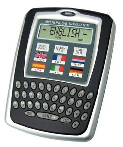 6 Language Pocket Travel Translator Clock/Calendar Calculator/Currency Converter
