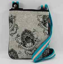 JUICY COUTURE AUTHENTIC GRAY/BLACK VELOUR SMALL CROSSBODY BAG PURSE NWT