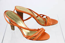 SHOES - sz 8.5 NEW COACH orange PYTHON snakeskin strappy heels, Beatriz A3016